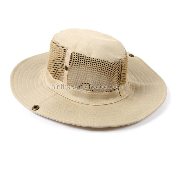 2b1d1a0a30ad5 Mens Outdoor Fishing Hiking Outback Safari Vented Sun Hat Wide Brim ...