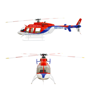 Rc helicopter 700 size Bell407 Gold Blue SM2 0 KIT VersionRC Helicopter  Fuselage