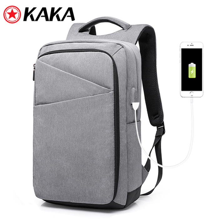 2017 kaka Designer Shock Water proof Men's Business Laptop Backpack Back Pack usb Bagpack Bag with USB Charging Port