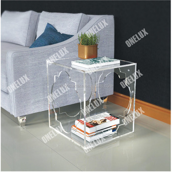 Fantastic Hollowed Acrylic Book Magazine Coffee Tea Table Lucite Engraved Side End Sofa Corner Tables One Lux Buy Antique Corner Table Plastic Tea Machost Co Dining Chair Design Ideas Machostcouk
