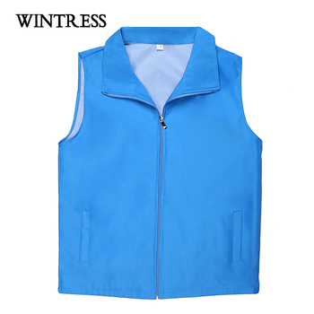 With zipper waistcoat for men design, black cheap waistcoat with pocket