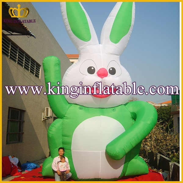 Lovely Giant Inflatable Rabbit, Outdoor Advertising Inflatable Animal