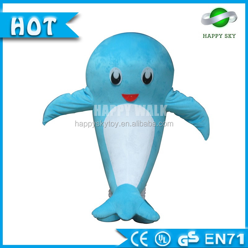 Plush aquatic creature costume for adult , octopus / turtle /dolphin / sea horse costume custom for advertising