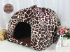 Leopaed style large outdoor dog house