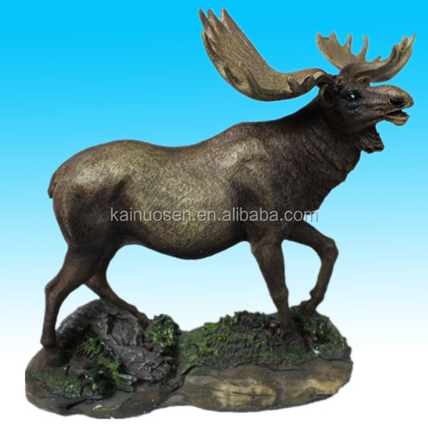 bull moose polyresin statue figurine for home decoration