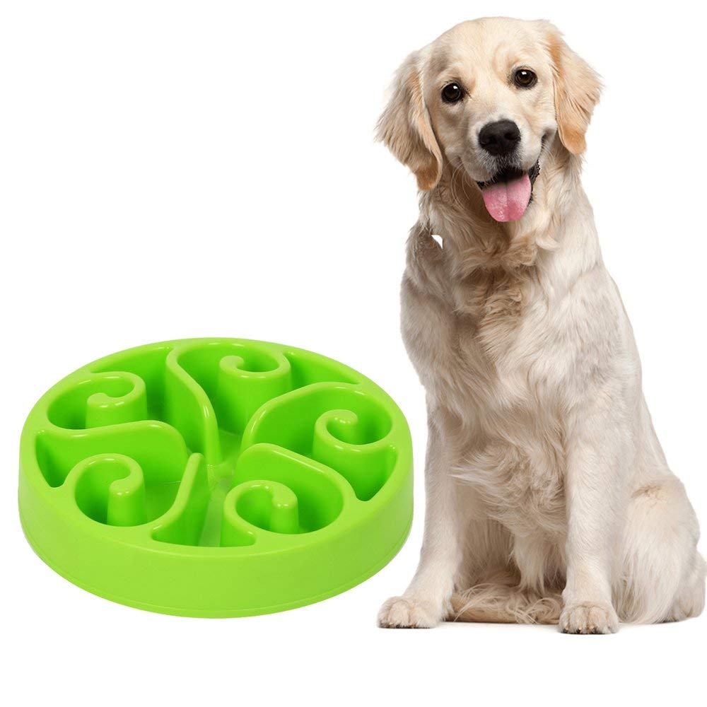 "Windyus Dog Bowl Slow Feeder-NON-SLIP Fun Feeder Interactive Bloat Stop Dog Bowl, 8"" Eco-friendly Durable Non Toxic Slow Feed Dog Bowl"