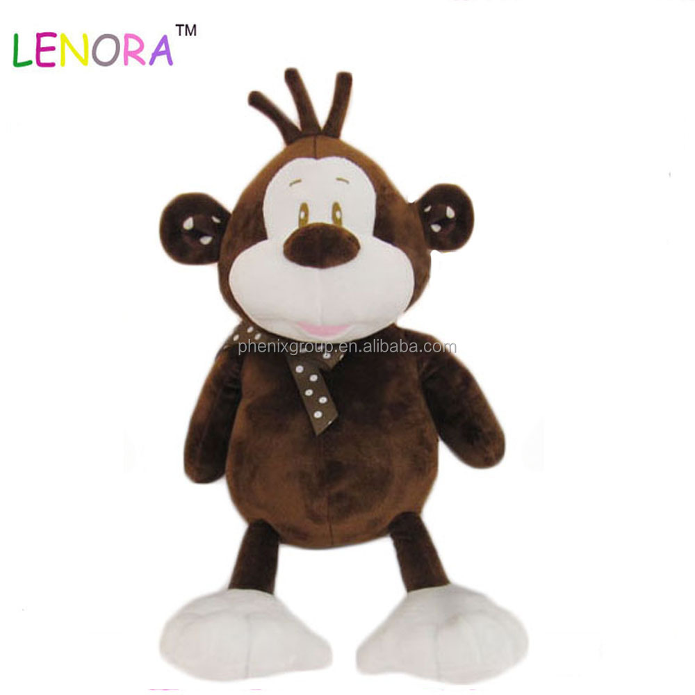 Hot sale baby plush toy forest animal cute monkey with tie baby super soft plush toy