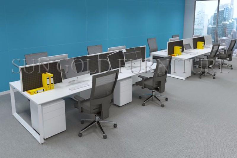 Moderno de oficina cub culo estaci n perfiles de aluminio for Bureau 4 places