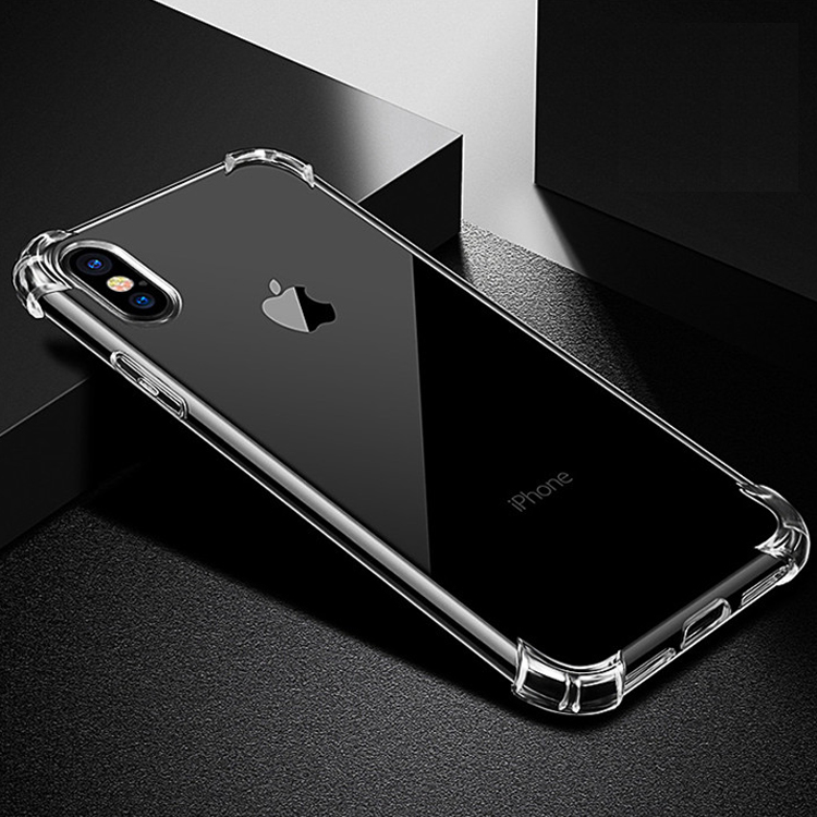 For iPhone X Cell Phone Clear TPU <strong>Case</strong>,Transparent Soft Silicone Cover