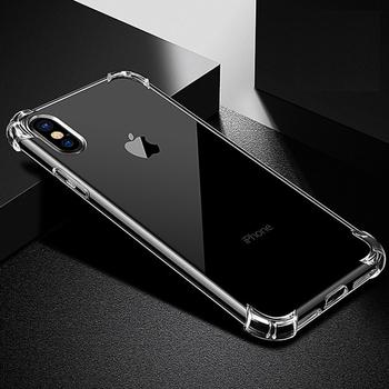 858e54d8f4c Para iPhone X teléfono celular claro caso de TPU transparente cubierta  suave de silicona