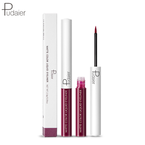 Pudaier 15colors Matte Liquid Eyeliner Brown Purple Color Eyeliner