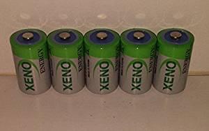 (5) XENO ER14252 1/2AA LITHIUM BATTERIES FOR SAFT LS-14250 , LS-14250C