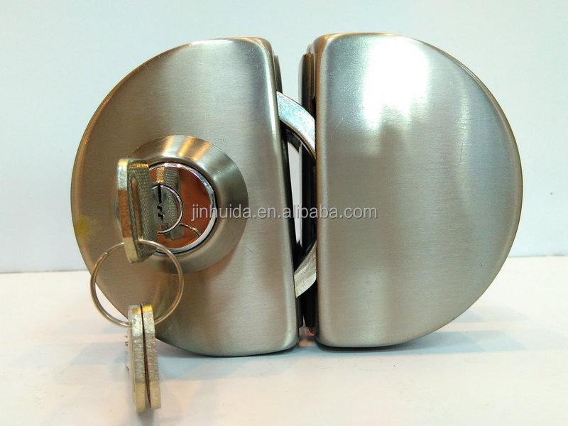 201ss304ss Satin Sliding Glass Lock Child Proof Durable Silver Lock