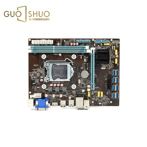 Original desktop alc662 ac97 support core i3 i5 i7 quad cpu mainboard lga 1150 b85 for mini pc motherboard