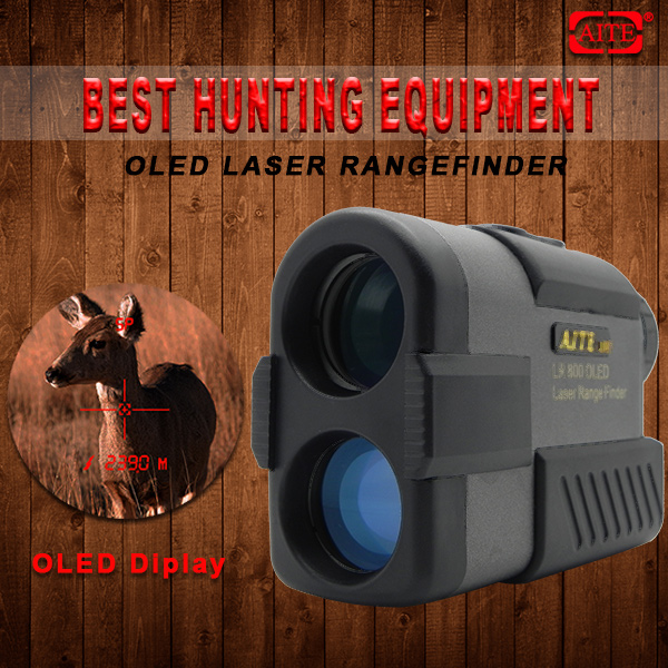 NEW 6*24mm 800m AITE Technology OLED display Hunting rangefinder climbing treestand
