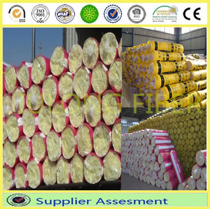 Glasswool insulation for wall and roof, fireproof Glass wool blanket materials