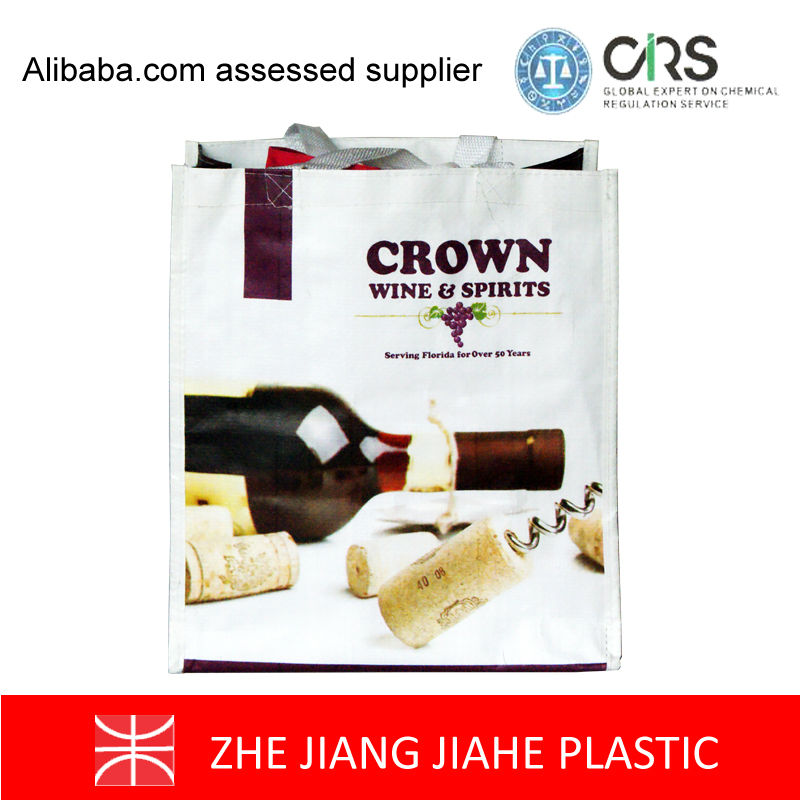 ECO Friendly non woven Wine wholesales package shopping plastic bags Promotional shopping bags