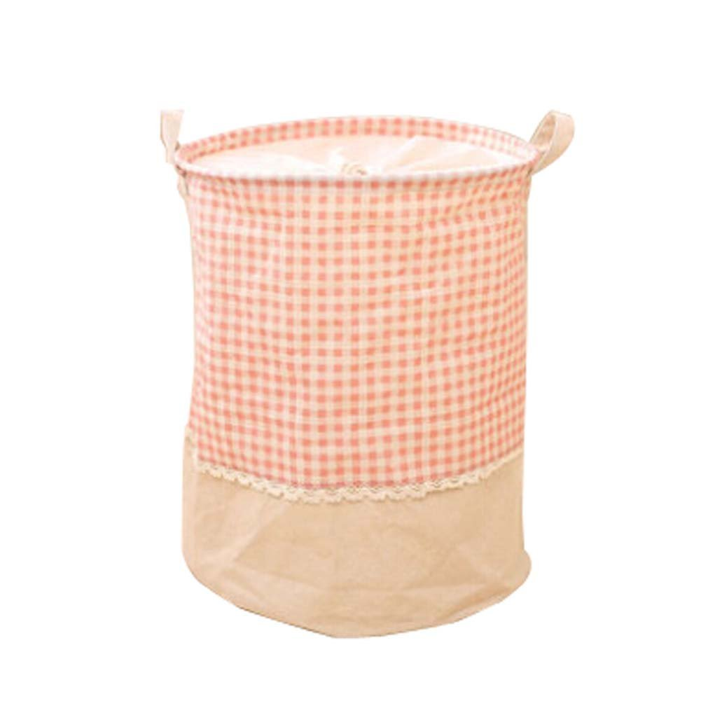 43a5a944cc579 Get Quotations · Panda Superstore Countryside Style Lace Draw Cord Laundry  Baskets Folding Basket for Clothes