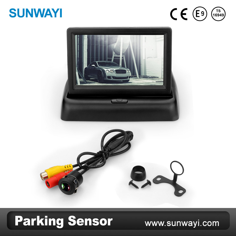 4.3Inch Mirror Car parking back camera with waterproof sensor