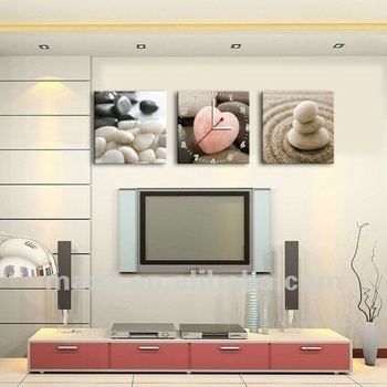 pierre art mural d coratif cadre photo horloge pour salon pour salle de cuisine dans horloges. Black Bedroom Furniture Sets. Home Design Ideas