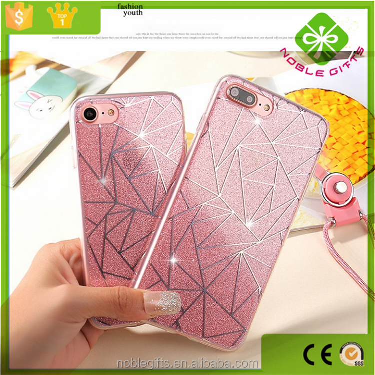 Plastic Material and Compatible Brand liquid fluorescent phone case for iphone