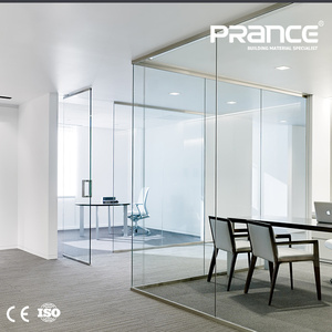 Building glass partitions tempered single glass partition wall