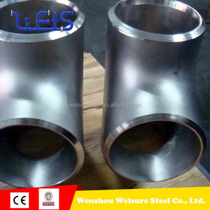 Butt welding pipe fittings B16.9 Duplex stainless steel S32750 elbow and tee for food industry
