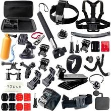 Gopro Accessories Set Helmet Harness Chest Belt Head Mount Strap Monopod Go pro hero3 Hero 4 session 3+ xiaomi yi SJ4000 GS42