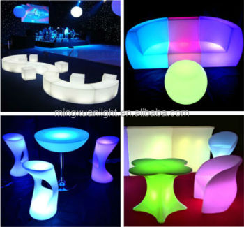 Delicieux Rechargeable Outdoor Acrylic Led Furniture For Bar Set