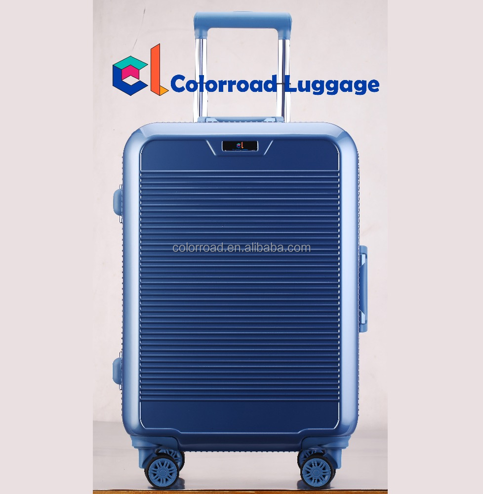 2017 gear polyester tripper aluminum frame luggage bag ,OEM trolley case luggage yiwu REACH,BSCI,SEDEX AUDITED luggage
