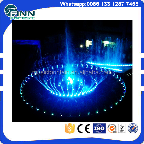 stainless steel water wall musical fountain design and construction
