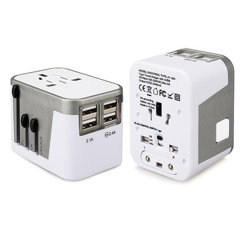 World travel universal adaptor multi plugs charger adapter all in one UK US AU EU Plug Outlet With 4 USB