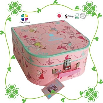 Decorative Pink Children Toy Mini Cardboard Suitcase With Handle ...