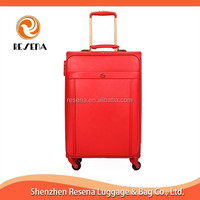 Good Quality Leather Wheeled PU Luggage