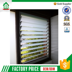 Aluminium frame high quality glass louvre windows