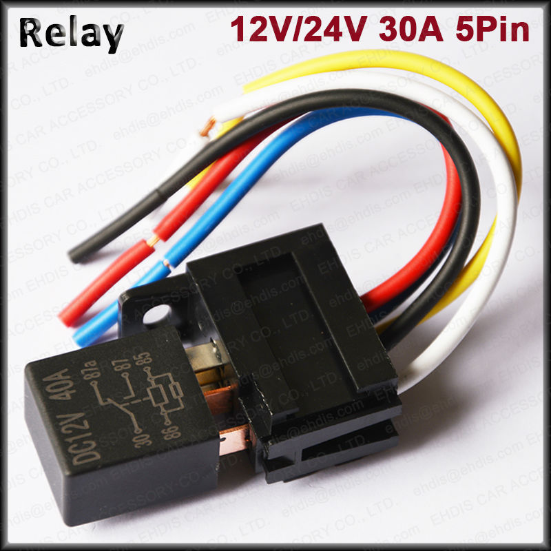 Waterproof Automotive Relay 12v 24v 40a 5pin Violet Timer Relay