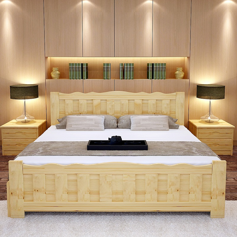 Latest Solid Wood Double Bed Designs With Storage Box