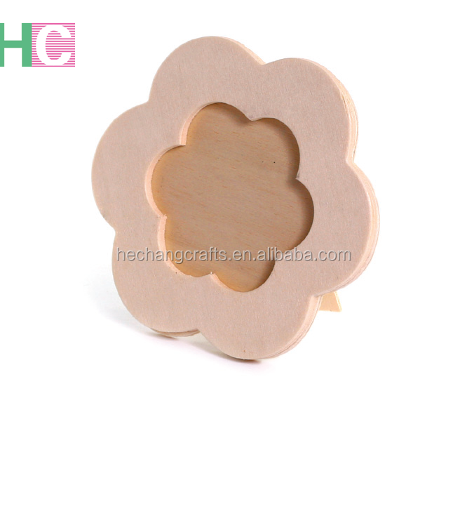 Flower Sharped mini Plywood photo frame