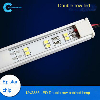 Superb 12v 120leds Double Row Lamp High Brightness Lamp Cabinet Hardware 2835 Smd  Led Epistar Chip Led