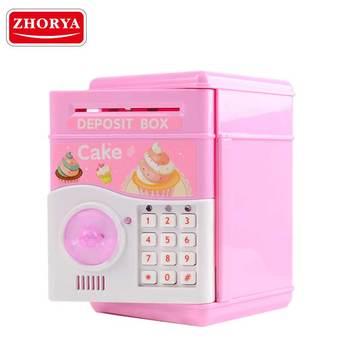 Zhorya Nieuwe Collectie Grappige Roze Kinderen Veilig Doos Speelgoed Bo  Entertainment Bank Veilige Case Speelgoed - Buy Bo Veilige Case
