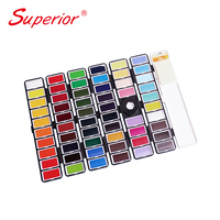 Superior new product Solid water color foldable easy to carry out professional level traveling watercolor set can replaced cake