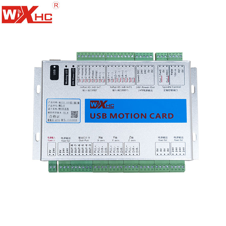 XHC 5th generation MK4-V 4 AXIS mach3 cnc motion control breakout board, 2000KHZ output, CE