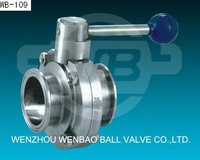 SS304 Stainless Steel Sanitary Quick Install Butterfly Valve price