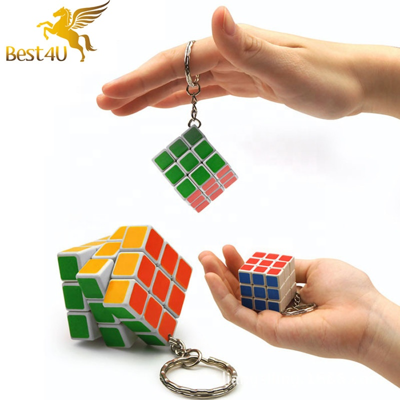 Enthusiastic New Magic Cube Keychain Professional 3x3x3 Speed Puzzle Cube Pendant Mini Rubike Cube Toys For Kids Education Learning Toys Gift Toys & Hobbies Magic Cubes