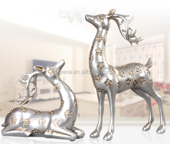 Hand Crafts Sika Deer For Living Room Decoration Best Gifts New Year Home