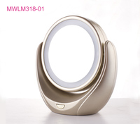 Table round mirror led battery cosmetic mirror vintage makeup mirror