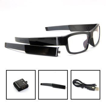 Replaceable Battery Glasses Hidden Sport Camera DVR Video Recorder Eyewear DV Cam
