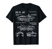 Мужская футболка с круглым вырезом Btr-70, летняя футболка с круглым вырезом и принтом в виде персонажа из России, Apc, 2019(Китай)