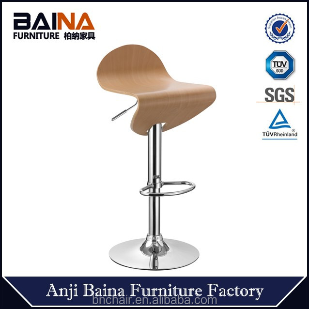 High quality bent wooden bar stool BN-5013
