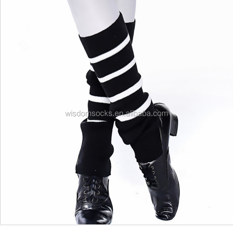 cable knit over knee christmas dance fashion women black leg warmers